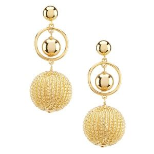 NEW Kate Spade 14K Gold Beads and Baubles Earrings